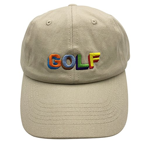 14a282a561553 qifang liu Golf Dad Hat Baseball Cap Letter Embroidered Adjustable Snapback  Unisex Cotton Beige