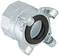 """Dixon GAM28 Plated Steel Global Air Hose Fitting, 4 Lug Quick Acting Coupling, 2"""" NPT Female"""