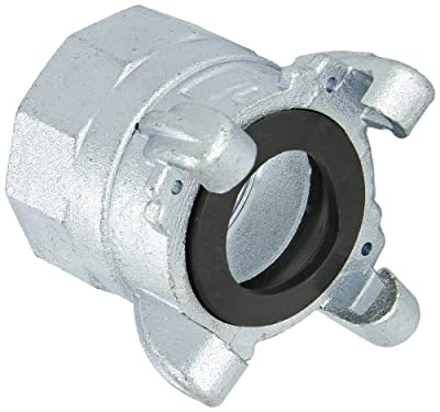 "Dixon GAM28 Plated Steel Global Air Hose Fitting, 4 Lug Quick Acting Coupling, 2"" NPT Female"