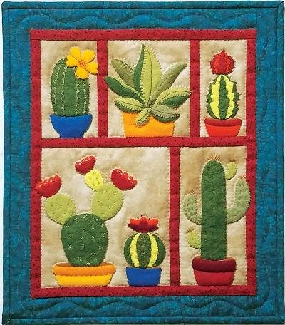 - Rachel's Of Greenfield K0518 Succulents Wall Quilt Kit Pattern, None