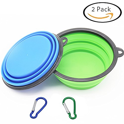 Large Size Collapsible Dog Bowl, Silicone Pet Travel Bowl for Dog Cat Food & Water, Foldable Expandable Cup Dish for Pet Cat Food Water Feeding Portable Travel Bowl Free (Portable Travel Bowl)