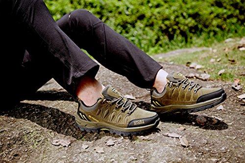 Chaussures de Randonnée Outdoor pour Hommes Femmes Basses Trekking et Les Promenades Sneakers Verte Bleu Noir 36-47 4