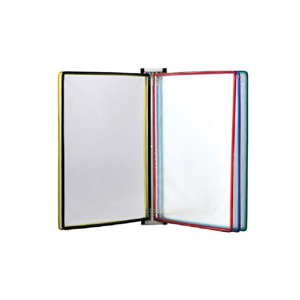 Flip File Holder, Wall-Mounted Magnetic Display (PVC+Metal) 24.535.54CM