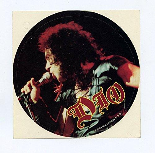 """DIO Ronnie James Sticker 1984 Vintage 4 3/8"""" Diameter"""