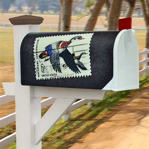 Designer Fully Magnetic Mailbox Covers (Retro US Postal Service Duck Stamp) (Us Cover Postal)