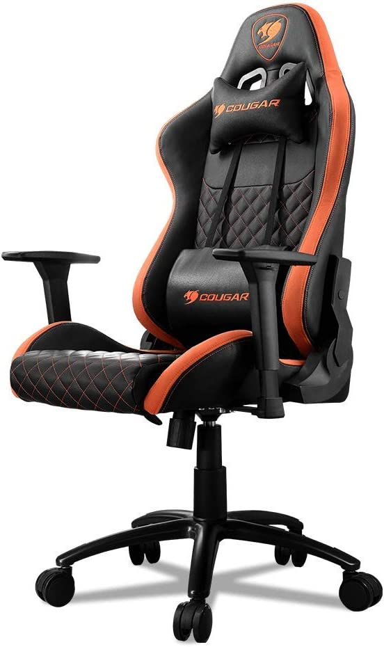Amazon Com Cougar Armor Pro Gaming Chair With A Steel Frame Breathable Premium Pvc Leather And Micro Suede Like Texture Orange Black Furniture Decor