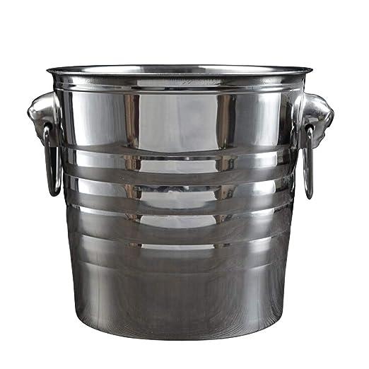 Compra YZBT-ice bucket Cubitera con Pinzas, Acero Inoxidable ...