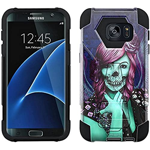 Samsung Galaxy S7 Edge Hybrid Case Groupie Skull 2 Piece Style Silicone Case Cover with Stand for Samsung Galaxy S7 Edge Sales