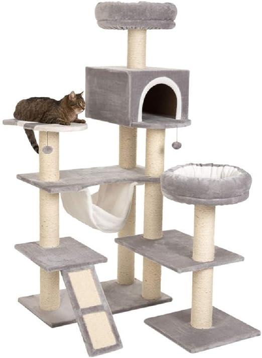 XXL árbol de gato con escalera casa de jengibre: Amazon.es: Productos para mascotas