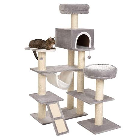 XXL árbol de gato con escalera casa de jengibre