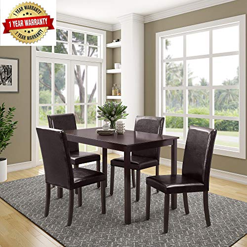 Merax 5-Piece Dining Table Set Home Kitchen