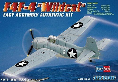 Hobbyboss 1:72 Scale F4F-4 Wildcat Assembly Kit by Hobbyboss
