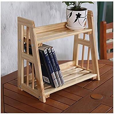 QQB &Soporte de exhibición Soporte de Flores Creativo Escalera de Madera Maciza Escritorio Rack de exhibición de Dos Niveles Cocina Almacenamiento en el hogar Rack Locker (Color : A): Amazon.es: Hogar