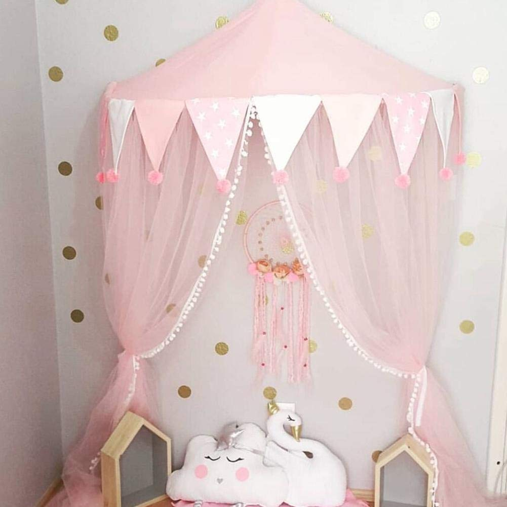 Owlhouse Kids Nets Canopy Tents, Princess Girl's Bed Awning, Indoor Boy's Half-Moon Game Lodge, Reading Reading Corner Layout, Hanging Tent