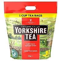 Yorkshire Tea, 1200 One Cup Tea Bags 3 Kg (total 1200 teabags)