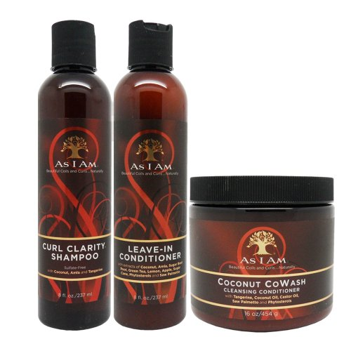 As I Am Curl Clarity Shampoo & Leave-in Conditioner 8oz, Coconut Cowash Cleansing Conditioner 16oz
