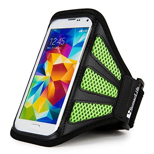 LG X Skin/K3/Spree/K7/Optimus Zone 3/K4/K5/K10/Classic Running Sports Exercise Workout Hiking Walking Green Armband (12-19in Axilla girth)