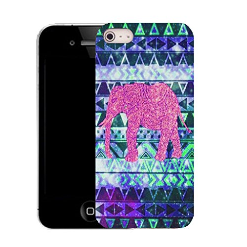 Mobile Case Mate IPhone 5S clip on Silicone Coque couverture case cover Pare-chocs + STYLET - boho pink elephant pattern (SILICON)