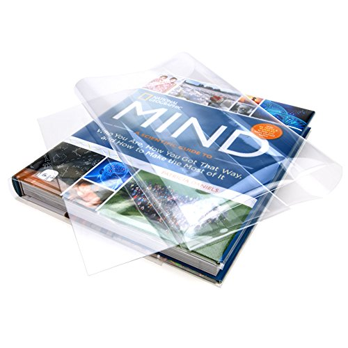 ClearBags 10.5x19.5 Clear Book Covers | For 10.25 Tall,19.5 Wide | Protect Against Wear, Tear Water | Archival Safe Acid Free | BC101H (Pack of 25) -