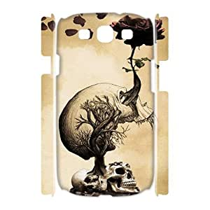 Skull Brand New 3D Cover Case for Samsung Galaxy S3 I9300,diy case cover ygtg557594