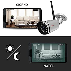 Foscam FI9800P IP66 Waterproof 720P HD Wireless IP Security Camera with IR Range up to 65', Silver and Black