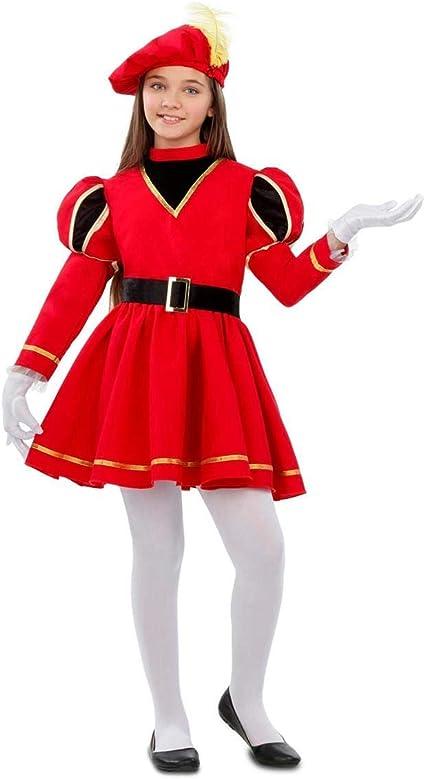 My Other Me Disfraz de PAJE Real Roja para niña: Amazon.es ...