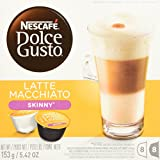 NESCAFE Dolce Gusto, Skinny Latte Macchiato, Specialty Coffee, Makes 24 Cups (3 Boxes of 16 Capsules - 8 Espresso and 8 Milk)