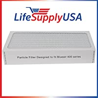 3 Air Purifier Filters fits ALL Blueair 400 Models 400PF, 401, 401PF, 410B, 402, 403, 410 450E, 455, 455EB; By Vacuum Savings