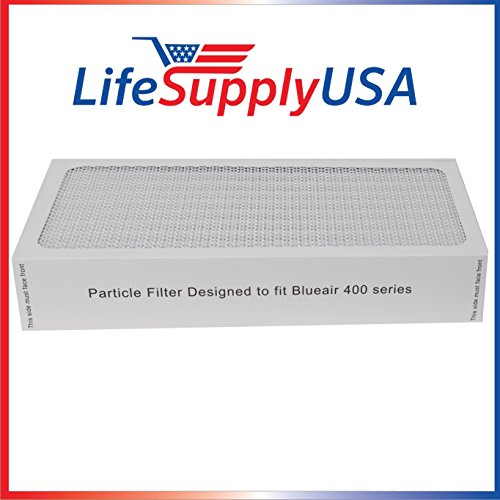 LifeSupplyUSA 1 Air Purifier Filter fits All Blueair 400 Models 400PF, 401, 401PF, 410B, 402, 403, 410 450E, 455, 455EB