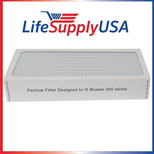 1 Air Purifier Filter fits ALL Blueair 400 Models 400PF, 401, 401PF, 410B, 402, 403, 410 450E, 455, 455EB; By LifeSupplyUSA