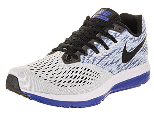 Nike Zoom Winflo 4 Chaussures De Course, Noir, Multicolore 11,5 Eu (platine Pur / Noir- 010)