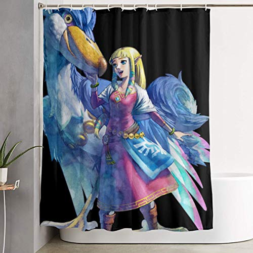 Shoebill Stork Travel Girl Bathroom Shower Curtain Decorative Toilet Celebrate Picks Set Prints Themed Supplies Accessories Indoor Home Room Restroom Ornament