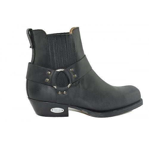 Negro Loblan Boots 0096 Westernstiefel 096 Größe Ankle 45 OPkN8n0Xw