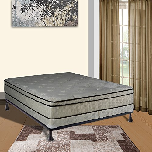 continental sleep 5 inch queen size fully assembled split box spring for new ebay. Black Bedroom Furniture Sets. Home Design Ideas