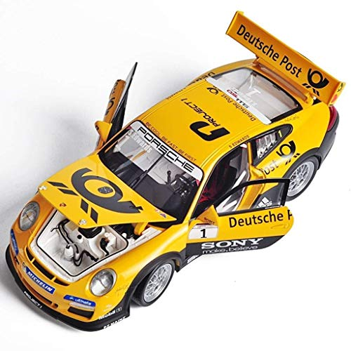 LLDMZ 1:18 Scale Highly Car Model for Adults Detail Porsche 911 GT3 Cup Simulation Vehicle Child Car Model Simulation Alloy Toy Car Collection Ornaments Gifts 10 Porsche 911 Gt3 Cup