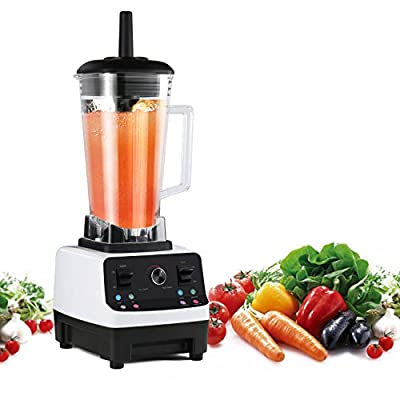 Blender Funkoo Commercial Food Blender for Smoothies and Shakes Professional High Speed Electric Blender Vegetable Fruit Mixer Processor White
