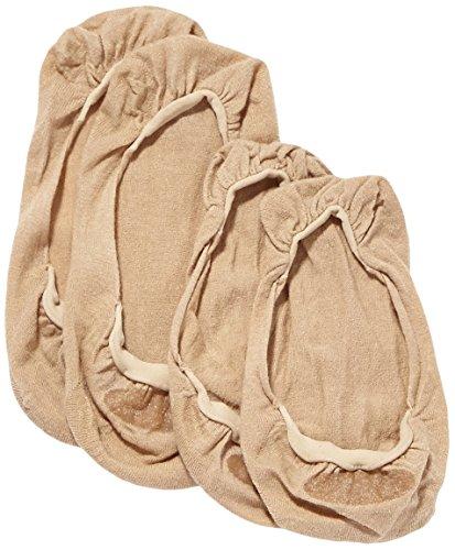 ELBEO Damen Füßlinge Ballerina Baumwoll Füßling Doppelpack/902515, 2er Pack, Gr. 39/42, Beige