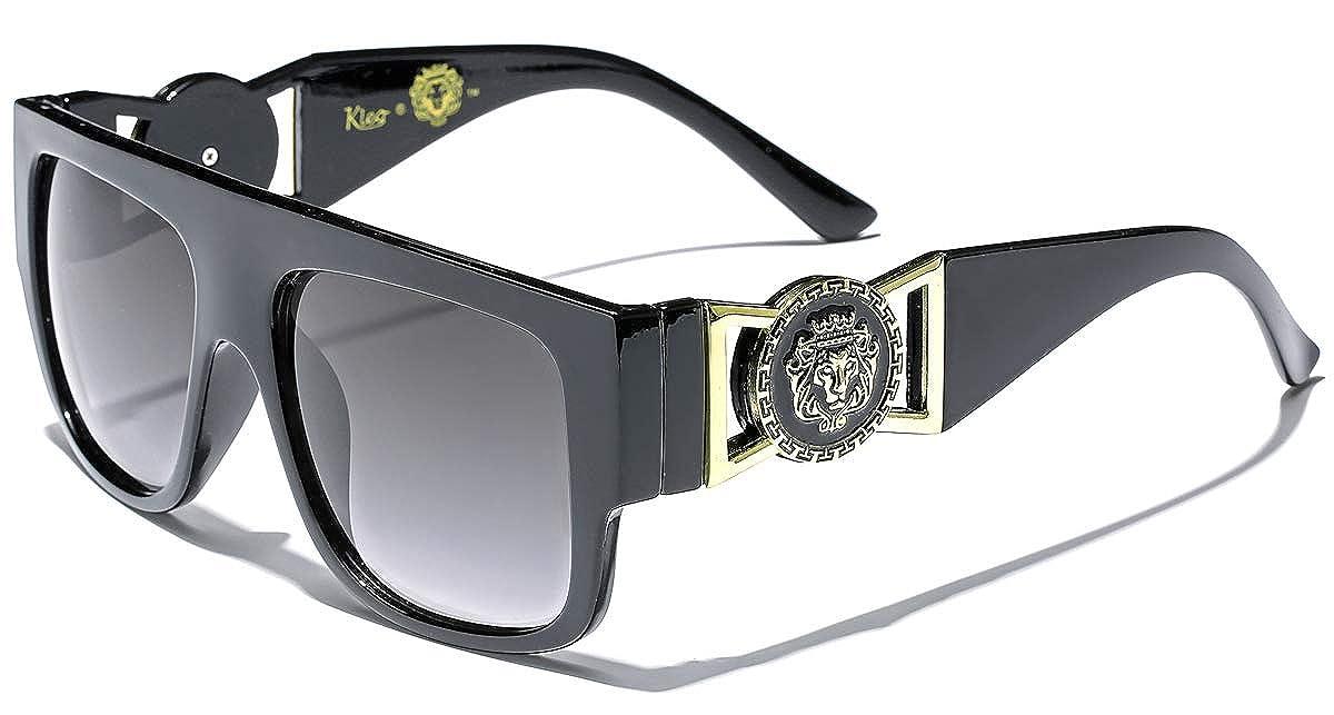 Amazon.com  Kleo Flat Top Aviator Gold Buckle Hip Hop Rapper DJ Celebrity  Sunglasses  Sports   Outdoors 378e9d0cea7