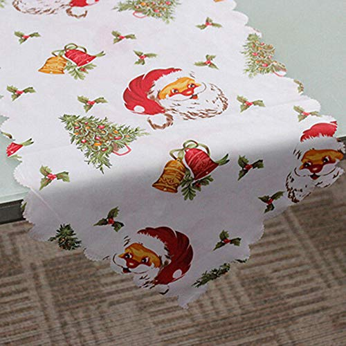 Runner Christmas - Christmas Print Table Runner Placemats Tablecloth Mat Santa Snowflakes Festive Wedding Xmas Party - Peach Wide Striped Black Rustic Outdoor Coffee Rose Embroidered Kilim -