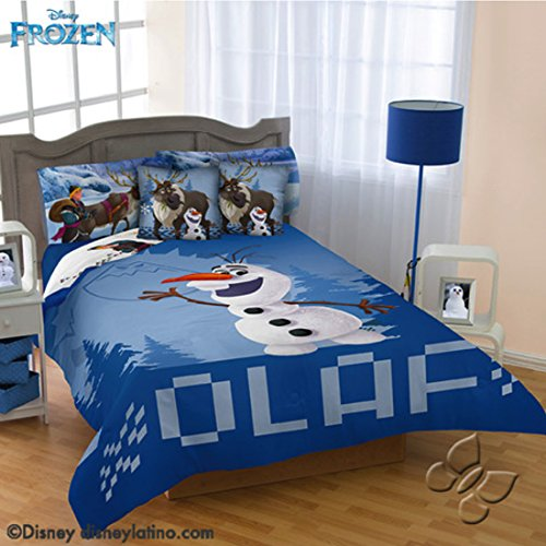 Disney Frozen Olaf 9 piece Reversible Comforter Set Queen