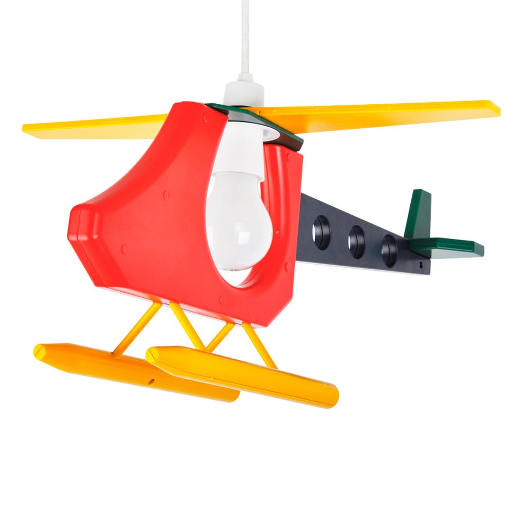 Cool Childrens Bedroom Baby Nursery 3D Colourful Helicopter Ceiling Cot Mobile Lamp Pendant Light Shade Amazoncouk Lighting