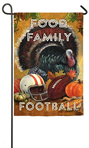 Evergreen Suede Food, Family, Football Thanksgiving Garden F