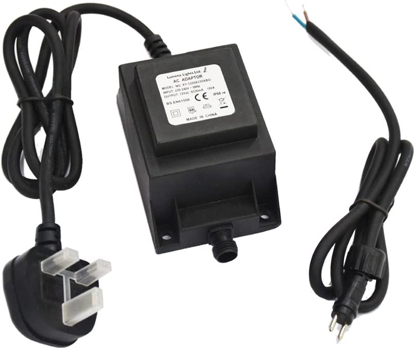 10 km ip44 Tension Câble de connexion clgarden Plug /& Light système de broches 12 V AC