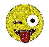 Navika Emoji Just kidding Glitzy Ball Marker with Magnetic Hat Clip