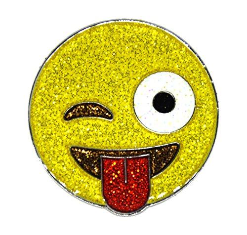 (Navika Emoji Just Kidding Glitzy Ball Marker with Magnetic Hat Clip)