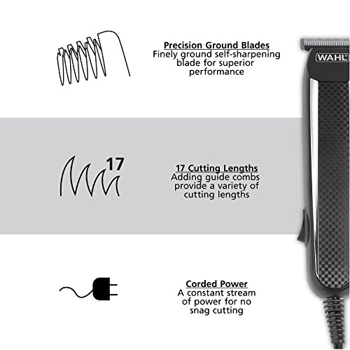 Wahl Clipper PowerPro Corded Beard Trimmers, Hair Clippers and Haircut Trimmers, men's grooming kits for Beard, Mustache, Stubble, Ear, Nose, Body Grooming, by the Brand used by Professionals # 9686 by Wahl (Image #2)