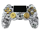 """Money Bullets"" Ps4 Custom UN-MODDED Controller Real Shot Gun Thumbsticks and 9mm Bullet Buttons Exclusive Design"