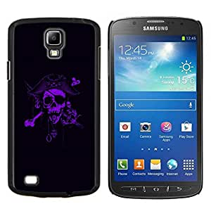 "Be-Star Único Patrón Plástico Duro Fundas Cover Cubre Hard Case Cover Para Samsung i9295 Galaxy S4 Active / i537 (NOT S4) ( Pirata Púrpura Negro Capitán Scary"" )"