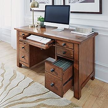 Amazon Com Arts And Crafts Cottage Oak Double Pedestal