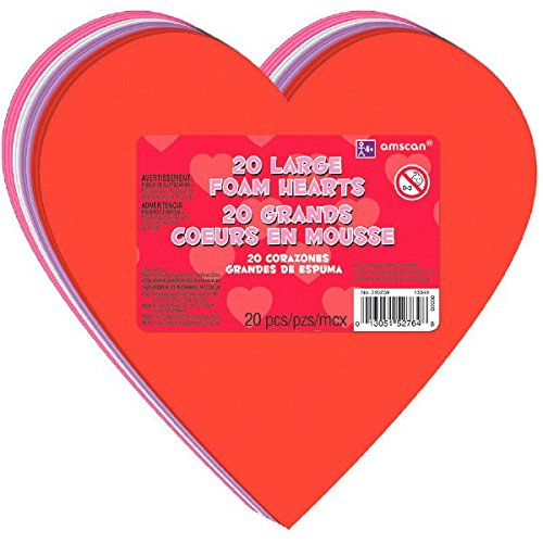 Amscan 395239 Valentines Large Craft Heart Décor, 6